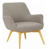 BERLINGO SINGLE SEATER FABRIC LOUNGE CHAIR - SEAT: 460(H) - DOLPHIN GREY