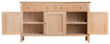 ROBINHOOD  (NT-3DS)  SIDEBOARD  BUFFET WITH 3 DOORS  & 3 DRAWERS - 1400(W) X 420(D) - OAK