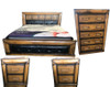 DAVINA  QUEEN 4   PIECE TALLBOY   BEDROOM SUITE WITH UPHOLSTERED BEDHEAD AND FOOT - (MODEL:2.18.15.15.11.12.25.14) - COLOUR AS PICTURED