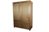 MORGAN 2 DOOR  WARDROBE WITHOUT  DRAWERS - 1800(H) X 1200(W) -(NOT AS PICTURED) - CLEAR LACQUER