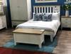 DOUBLE SPENCER (TT-46-W) BED FRAME ONLY - BRIGHT WHITE  / LIGHT OAK (2 TONE)