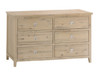 BRIGHTING 6 DRAWERS LOWBOY CHEST (FC-6DC) -800(H) X 1400(W)- NATURAL