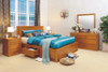 CLAREMONT  KING 6  PIECE (THE LOT) BEDROOM SUITE WITH 4 UNDER BED DRAWERS -  CHOICE OF COLOURS