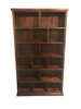 URBAN FLAT TOP STAGGERED LOWLINE BOOKCASE - 2100(H) x 1200(W) - ASSORTED COLOURS