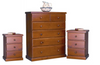 ALEXIA 3 PIECE  TALLBOY CHEST  - COLOUR AS PICTURED