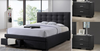 BRONTE KING  3 PIECE BEDSIDE   BEDROOM SUITE -  (BED WITH 2 DRAWERS) - DARK GREY