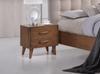 AMINA  2 DRAWER BEDSIDE TABLE - (14-15-15-19-1)  -WALNUT