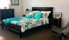 BALLINA KING 3 PIECE BEDSIDE   BEDROOM SUITE  - (BED WITHOUT FOOT DRAWERS) - BLACK
