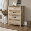 CANNERY BRIDGE 5 DRAWER TALLBOY CHEST - 1054(H) X 794(W)  -LINTEL OAK FINISH