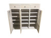 BANDY 3 DOOR / 3 DRAWER SHOE CABINET - 1500(H) X 1500(W) - ASSORTED STAINED COLOURS (NOT AS PICTURED)