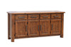 CARGO TIMBER SIDEBOARD / BUFFET WITH 4 DOORS & 4 DRAWERS - 1820(W) - COUNTRY RUSTIC