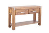 MATRIX L CONSOLE - HALL TABLE WITH  TWO DRAWERS - 1250(W) - DESERT SAND