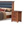 AYDEN   QUEEN 3 PIECE  BEDSIDE BEDROOM SUIT  (3734) BED WITH PADDED HEADBOARD (MODEL - 7-5-15-18-7-9-1) - NUTMEG