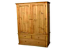COTTAGE 2 PIECE WARDROBE WITH BLANKET DRAWERS - 2100(H) X 1300(W) - ASSORTED COLOURS AVAILABLE