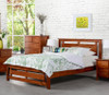 KING SINGLE TANA BED - WALNUT