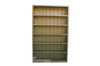 CUBE BOOKCASE WITH T-BAR AND 10 ADJUSTABLE SHELVES - 2600(H) X 1500(W) - WHITE