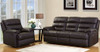 CARTER 2RR+R+R FULL LEATHER RECLINER SUITE (2 SEATER NOT PICTURED)