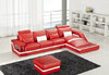 ZVEST - II (G1074B) CHAISE LEATHER / PVC LOUNGE  - ASSORTED COLOURS