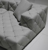 WARNIER (F2036) 3 SEATER LEATHER/ETTE COMBINATION CHAISE LOUNGE - ASSORTED COLOURS