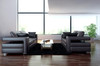 DIONE (F6035) 1 SEATER + 2 SEATER + 3 SEATER LEATHER/ETTE COMBINATION LOUNGE SUITE - ASSORTED COLOURS
