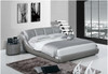 QUEEN NICOLAI ANDREA LEATHERETTE BED (A9008) - ASSORTED COLOURS