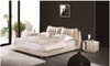 ARMANI (A9086) KING 3 PIECE BEDSIDE BEDROOM SUITE (WITH #47 BEDSIDES) - LEATHERETTE - ASSORTED COLOURS