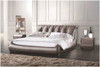 GAUTHIER KING 3 PIECE BEDSIDE BEDROOM SUITE - LEATHERETTE - ASSORTED COLOURS (WITH OPTIONAL UPGRADE FOR GAS LIFT UNDERBED STORAGE)