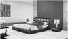 JANSEN QUEEN 3 PIECE BEDSIDE BEDROOM SUITE - LEATHERETTE - ASSORTED