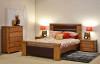 COLORADO KING 4 PIECE TALLBOY BEDROOM SUITE - NATURAL