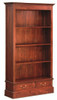 2 DRAWER BOOKCASE (BC-002-PN) - 1800(H) x 980(W) - MAHOGANY OR CHOCOLATE