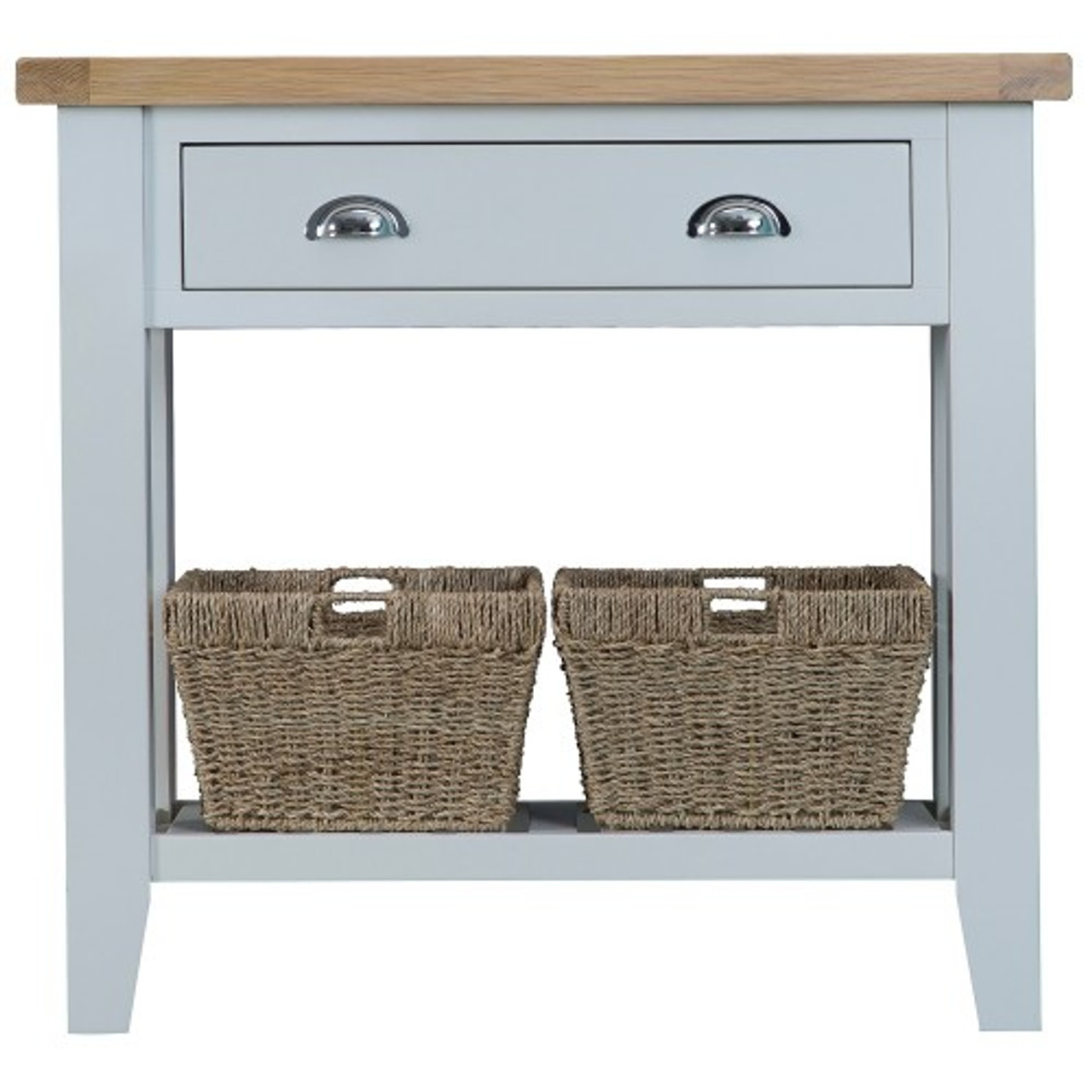 ARBETTA (TT CON) CONSOLE TABLE WITH ONE DRAWER U0026 2 BASKETS   800