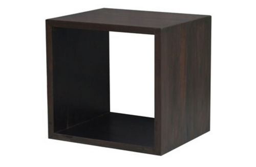 1 CUBE SHELF (CU-001-RPN) - MAHOGANY OR CHOCOLATE