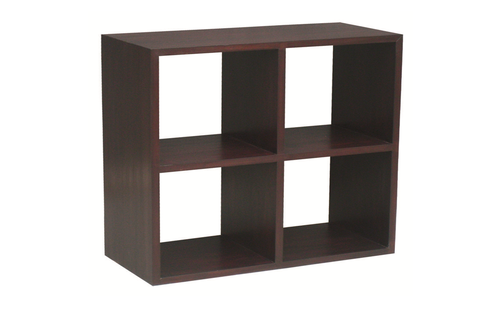 4 CUBE SHELF (CU-004-RPN) - 890(H) x 890(W) - MAHOGANY OR CHOCOLATE
