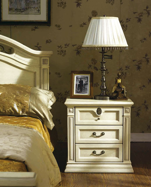 CASINO (BE-313) BEDSIDE - LIME WASH WHITE