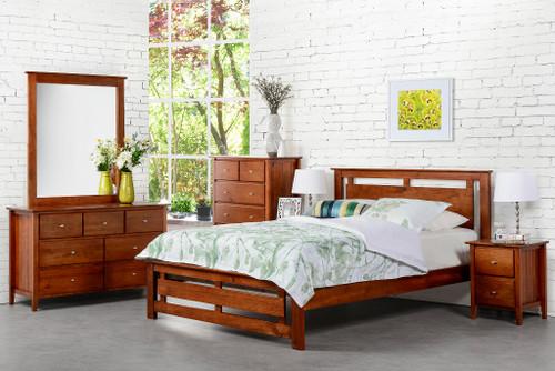 TANA DOUBLE OR QUEEN 6 PIECE BEDROOM SUITE - WALNUT
