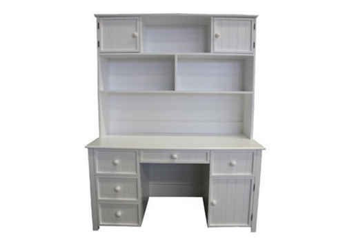 GEORGE DESK -   ONLY (EXCLUDING HUTCH) WITH STANDARD WOODEN KNOBS - 1400(W) X 600(D) - PRICED IN ASSORTED COLOURS (VIC ASH AND PINE OPTIONS ALSO AVAILABLE - PRICE ON APPLICATION) - CUSTOMISATION AVAILABLE