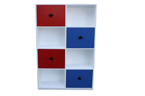 SOPHIA CUBE BOOKCASE WITH DOORS - 900(W) - 1800(H) x 900(W) - PRICED IN ASSORTED COLOURS (VIC ASH AND PINE OPTIONS ALSO AVAILABLE - PRICE ON APPLICATION) - CUSTOMISATION AVAILABLE