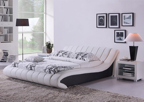 KING TRIESTA (G882) LEATHERETTE BED - ASSORTED COLOURS AVAILABLE