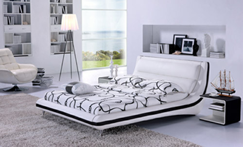 QUEEN PRATO (G892) LEATHERETTE BED - ASSORTED COLOURS AVAILABLE