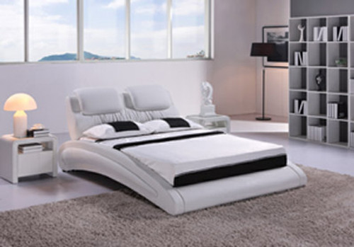 QUEEN PARMA (G893) LEATHERETTE BED - ASSORTED COLOURS AVAILABLE