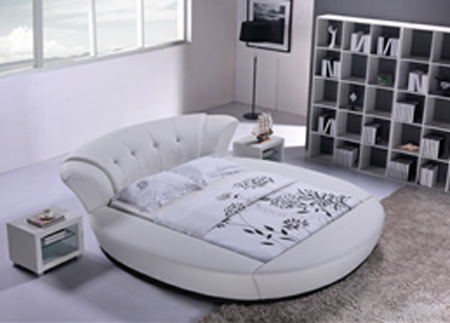 QUEEN CIRCULON (6820#) ROUND LEATHERETTE BED - ASSORTED COLOURS AVAILABLE