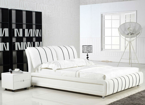 QUEEN VICENZIA (G855#) LEATHERETTE BED - ASSORTED COLOURS AVAILABLE