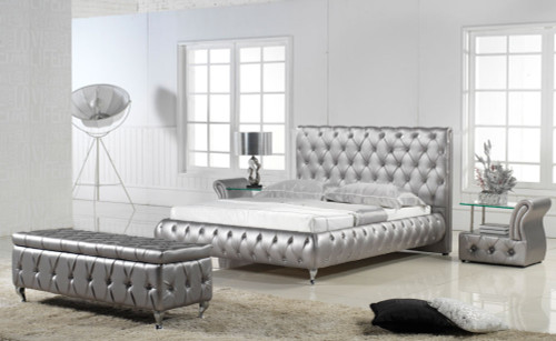 QUEEN (G807#) LEATHERETTE BED - ASSORTED COLOURS AVAILABLE