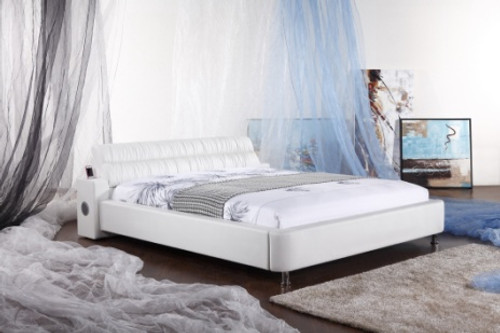 QUEEN (G937#) LEATHERETTE BED WITH iPHONE HIFI - ASSORTED COLOURS AVAILABLE