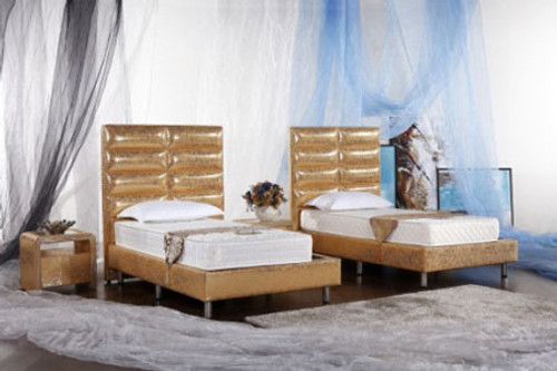 KING (G958#) LEATHERETTE BED (1 X BED ONLY) - ASSORTED COLOURS AVAILABLE