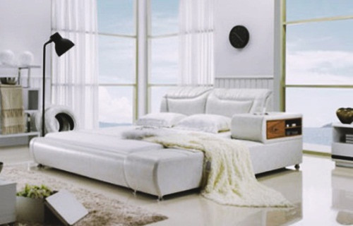 QUEEN MINNESOTA (G985#) LEATHERETTE BED - ASSORTED COLOURS AVAILABLE