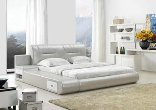 KING (G989#) LEATHERETTE BED - ASSORTED COLOURS AVAILABLE