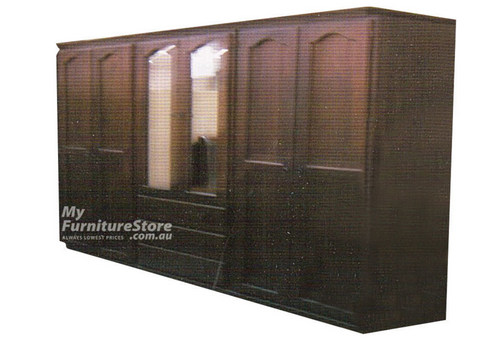 EMPIRE 3 PIECE MULTIROBE WITH 6 DOORS / 3 DRAWERS -  2000(H) X 2500(W) - ASSORTED COLOURS