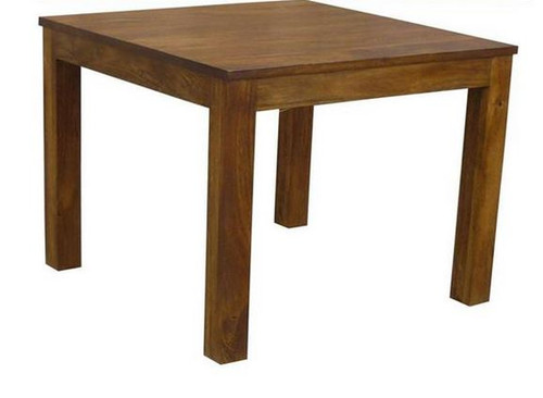BRONTE (WONMR-017) DINING TABLE ONLY (WITHOUT DINING CHAIRS) - 1000(L) X 1000(W) - LIGHT HONEY