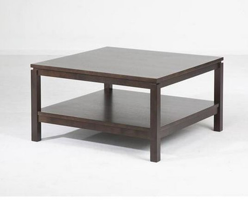 CUBIST (VCT-015) COFFEE TABLE - 430(H) X 800(W) X 800(D) - CHOCOLATE